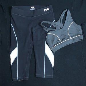 FILA legging/sports bra bundle. Sz S both